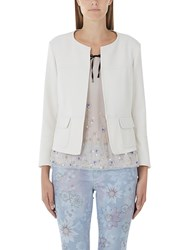 Marc Cain Edge To Edge Crepe Jacket Cream
