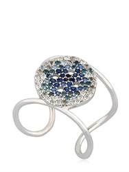 Buja Button Blue Pave Ring