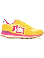 Atlantic Stars Embroidered Star Sneakers Yellow And Orange