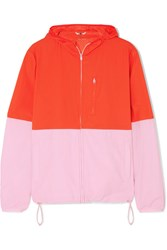 Tory Sport Hooded Two Tone Shell Jacket Red Gbp