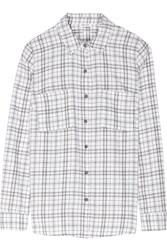 Splendid Hayes Plaid Cotton Shirt White