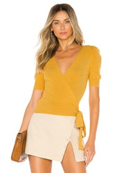 Majorelle Ginette Wrap Sweater Yellow