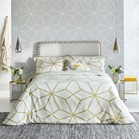 Harlequin Axal Duvet Cover Ochre Yellow