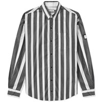 Neighborhood Luker By Stripe Shirt Black