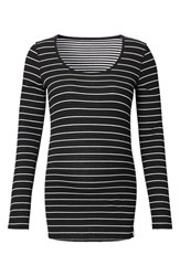 Noppies Women's Ivy Stripe Maternity Shirt Black