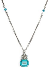 Sorrelli Crowning Glory Crystal Pendant Necklace Blue Green