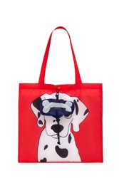 Forever 21 Dalmatian Graphic Pop Out Tote Bag Red Multi