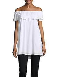 Saks Fifth Avenue Larisa Ruffle Off Shoulder Top White