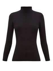 Joseph Roll Neck Silk Blend Sweater Black