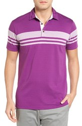 Bobby Jones Men's Trio Stripe Jersey Golf Polo Bora Bora
