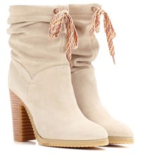 See By Chloe Suede Boots Beige