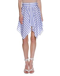 Francesco Scognamiglio Striped Handkerchief Hem Skirt White