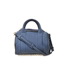 Alexander Wang Rockie Bag In Soft Pebbled Leather And Pale Gold