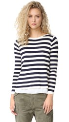 Top Secret Brooklyn Sweater Navy Stripe White