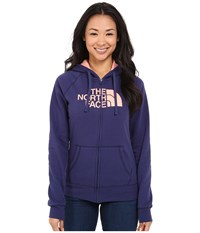 The North Face Half Dome Full Zip Hoodie Patriot Blue Neon Peach Women's Fleece