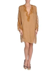Ermanno Scervino Beachwear Cover Ups Brown
