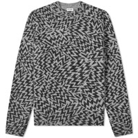 Saint Laurent Jacquard Cosmics Crew Knit Black