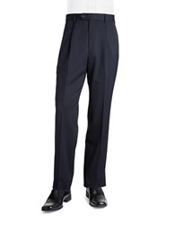 Palm Beach Stan Pleated Suit Pants Navy