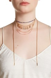 Stephan And Co Wraparound Layered Chain Necklace White