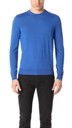 Z Zegna Merino Wool Crew Sweater Blue