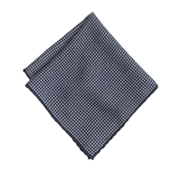 J.Crew Italian Wool Pocket Square In Houndstooth Heritage Navy