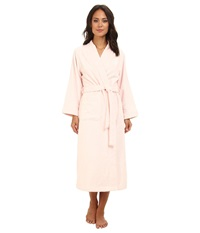 Lauren Ralph Lauren Greenwich Woven Terry Long Robe Chiffon Pink Women's Robe