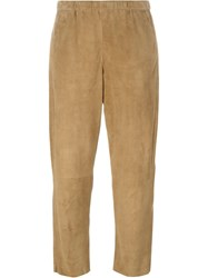 Drome Cropped Trousers Nude And Neutrals