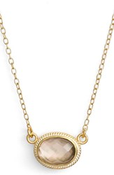 Women's Anna Beck Semiprecious Stone Oval Pendant Necklace
