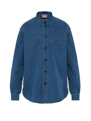 Acne Studios Seiji Boxy Denim Shirt Light Blue