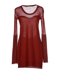 Met And Friends Dresses Short Dresses Women Brick Red