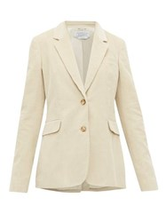 Gabriela Hearst Sophie Single Breasted Cotton Corduroy Blazer Cream