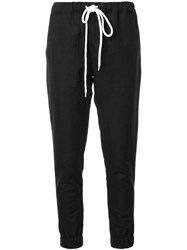 Bassike Slub Cuffed Sweatpants Black