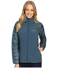 Merrell Northernlites Hybrid Softshell Jacket Blue Spruce Women's Coat Olive