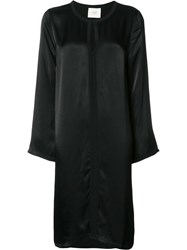 Just Female Round Neck Shift Dress Black