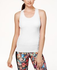 Jessica Simpson The Warm Up Rib Knit Tank Top Only At Macy's Glowing White