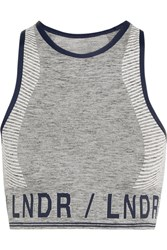 Lndr Aero Stretch Knit Sports Bra Light Gray