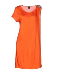 1 One Dresses Short Dresses Women Orange
