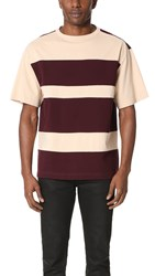 Marni Cotton Jersey Tee Bordeaux Beige