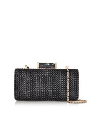 Julia Cocco' Black Mesh Clutch W Golden Frame