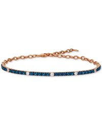 Le Vian Blueberry 2 1 5 Ct. T.W. And Vanilla 1 3 Ct. T.W. Sapphire Bracelet In 14K Rose Gold Also Available In Emerald