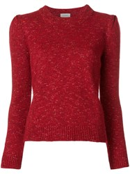 Isa Arfen Speckle Detail Sweater Red
