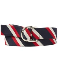 Polo Ralph Lauren Men's Team Usa Ceremony Striped Belt Red White Blue