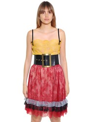 Philosophy Di Lorenzo Serafini Sheer Lace Top With Velvet Straps