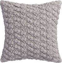Cb2 Gravel Light Grey 18'' Pillow With Down Alternative Insert
