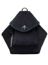 Manu Atelier Mini Suede Fernweh Backpack Suede Blue