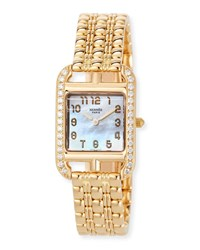 Hermes Cape Cod 18K Yellow Gold And Diamond Watch