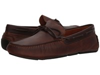 Massimo Matteo Pitstop Tie Driver Chocolate Slip On Dress Shoes Brown