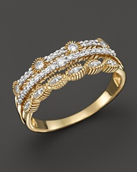 Bloomingdale's Diamond 3 Row Band In 14K Yellow Gold .25 Ct. T.W.