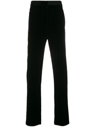 Golden Goose Deluxe Brand High Waist Straight Leg Trousers Black
