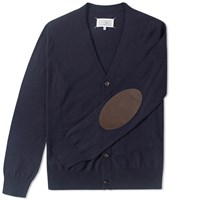 Maison Martin Margiela Maison Margiela 14 Elbow Patch Cardigan Blue